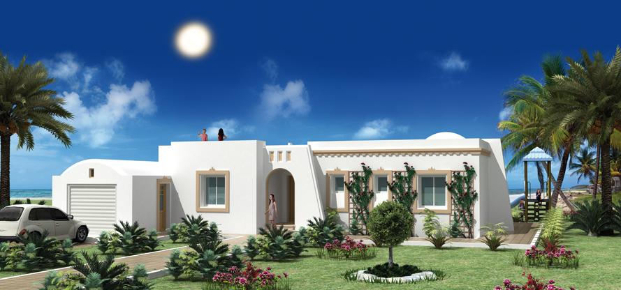 Construire en tunisie avec les plans de maisons nejma avec for Plan de maison en tunisie
