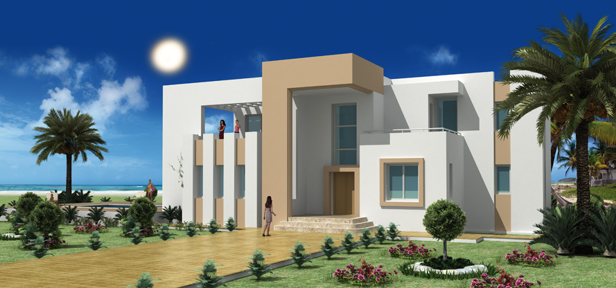 Construire en tunisie avec les plans de maisons rawen avec for Plan de maison en tunisie
